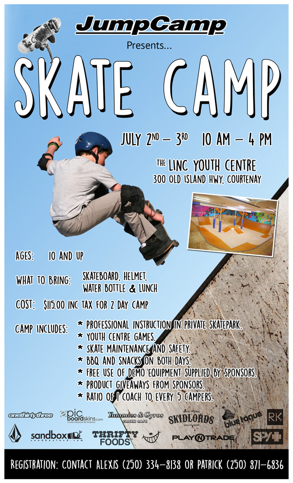 JumpCamp Skate Camp Linc Courtenay